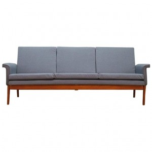 Sofa szara, duński design, lata 70, projektant: Finn Juhl, producent: France & Son