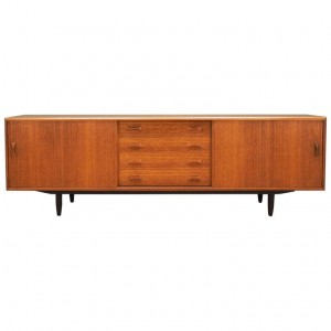 Sideboard tekowy, duński design, lata 60, producent: Clausen & Son